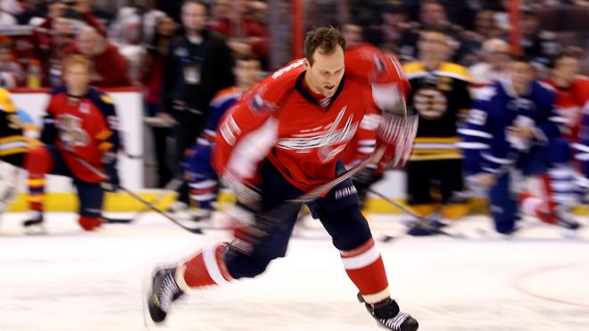 Dennis Wideman #6 Of The Washington Capitals And Team Chara Takes Getty Images