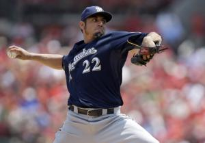 Garza hurt, Brewers lose 3-2 to Cardinals