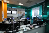 "Employees of Kaspersky Lab work in 2011. A new ""state-sponsored"" cyber surveillance virus dubbed ""Gauss"" has stolen passwords and key data from thousands of bank users in the Middle East, the top IT security firm Kaspersky Lab said Thursday"