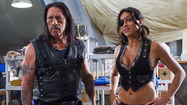 Danny Trejo and Michelle Rodriguez in 'Machete Kills' (Photo: Open Road Films)