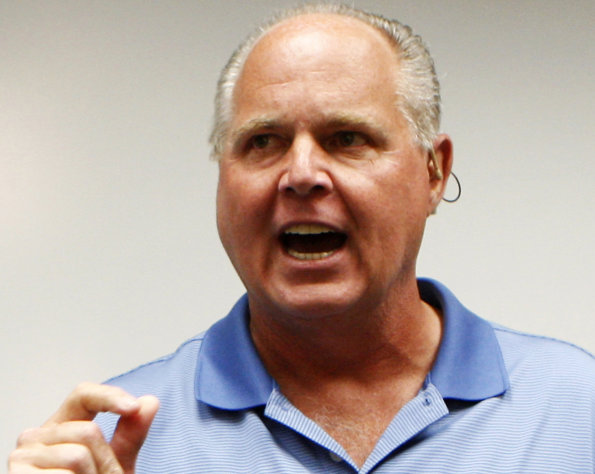 FILE - In this Jan. 1, 2010 file photo, conservative talk show host Rush Limbaugh speaks during a news conference in Honolulu. Director Betty Thomas said John Cusack's production company has a script ready that will star the actor as Limbaugh in a film planned for 2013. It's not typecasting: Cusack is an outspoken liberal. (AP Photo/Chris Carlson, file )