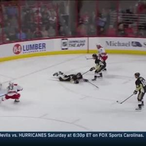 Marc-Andre Fleury Save on Jeff Skinner (13:24/1st)