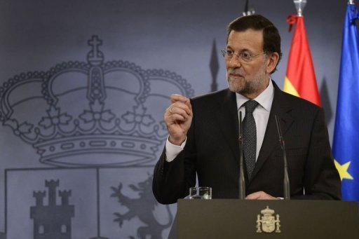 &lt;p&gt;Spanish Prime Minister Mariano Rajoy gives a press conference with his Italian counterpart Mario Monti after a Spain-Italy summit at the Moncloa Palace in Madrid on October 29, 2012. Rajoy promised Wednesday to seek a bailout if the stricken economy needs it, but some media said he planned no such request this year.&lt;/p&gt;
