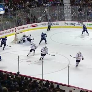 Matt Hackett Save on Henrik Sedin (12:44/1st)