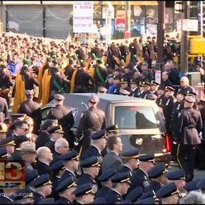 Md. Police Attend Funeral For NYPD Officer Gunned Down Last Week