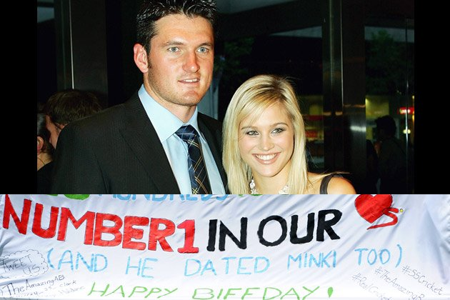 Graeme Smith with his former girlfriend Minki