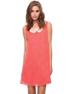 Polka dotted dresses are feminine and fun.