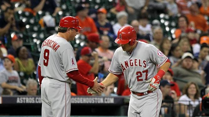 Trout hits 2 HRs to lead Angels past Astros, 6-3
