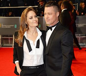 Angelina Jolie, Brad Pitt Wear Matching Tuxes on BAFTA Carpet: Picture