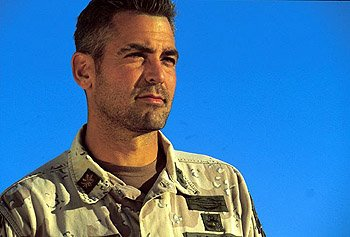 George Clooney as Special Forces Captain Archie Gates in Warner Brothers' Three Kings