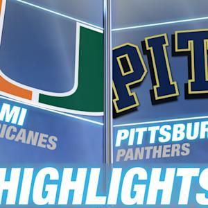 Miami vs Pittsburgh | 2014-15 ACC Men's Basketball Highlights