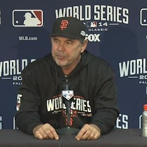 Raw Video: Giants Manager Bruce Bochy After Game 1 Of World Series