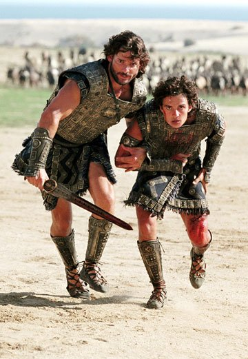 Eric Bana and Orlando Bloom in Warner Brothers' Troy