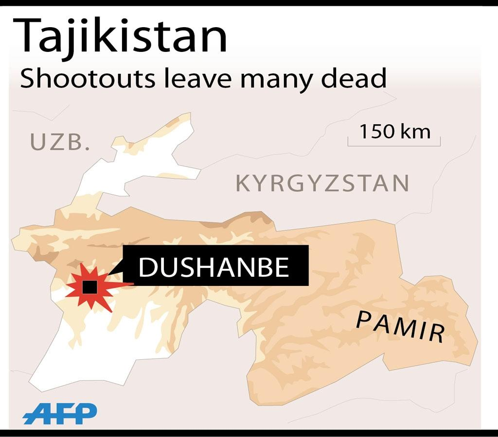Tajikistan kills 13 in crackdown after police station attacks: govt