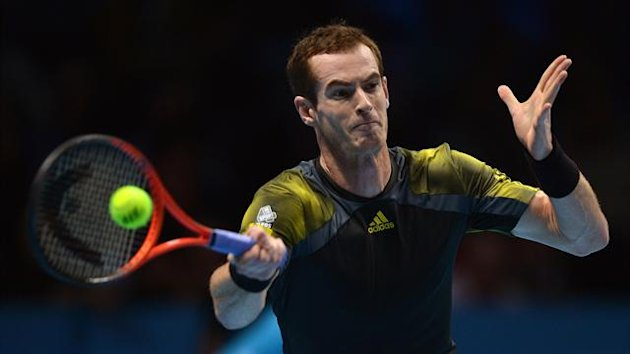 Andy Murray on his way to victory against Tomas Berdych