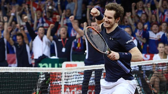 Britain's Andy Murray has been something of a one-man show in the Davis Cup this year, taking full advantage of the absence of elite players Novak Djokovic, Roger Federer and Rafael Nadal