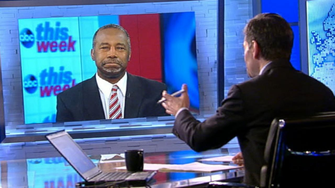 Ben Carson Won't Book Additional Paid Speeches