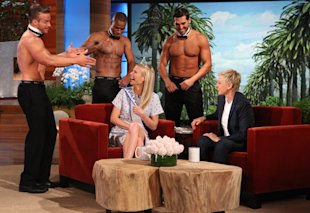 Ellen Congratulates Gwyneth Paltrow with Strippers