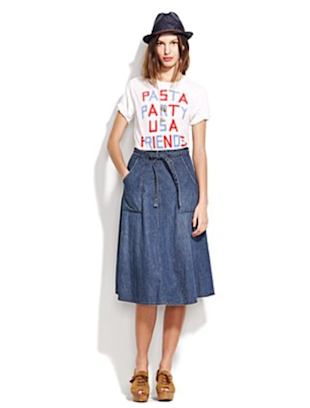 Denim Wrap Skirt from Madewell 