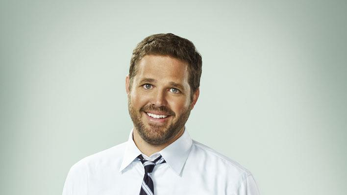 "David Denman stars as Mike on ""Traffic Light."""