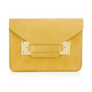 Mini Envelope Bag Sophie Hulme: Fashion Trend: Mustard