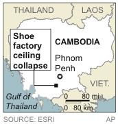 Cambodian shoe factory collapse kills 2, injures 7
