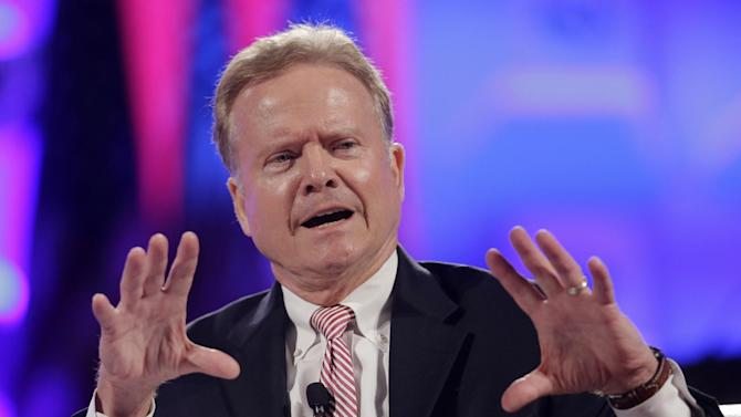 FILE - In this June 30,2015 file photo, former Virginia Sen. Jim Webb speaks in Baltimore. On Thursday, Webb announced his campaign for the Democratic presidential nomination. (AP Photo/Patrick Semansky, File)