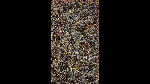 """""""No. 5, 1948"""" by Jackson Pollock, sold for $140 million in 2006."""