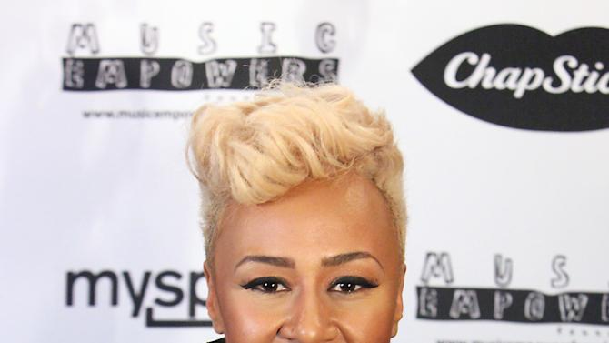 IMAGE DISTRIBUTED FOR CHAPSTICK - Rising recording artist Emeli Sande appears at the Myspace Live concert presented by ChapStick Sessions, Monday, Feb. 11, 2013, in Los Angeles, Calif.   Sande headlined the ChapStick-sponsored show, which promoted emerging musical talent.  The concert was streamed lived with views benefiting the Music Empowers Foundation, which provides tomorrow's talents the opportunity to learn, play, create and perform music. (Photo by Rene Macura/Invision for ChapStick/AP Images)