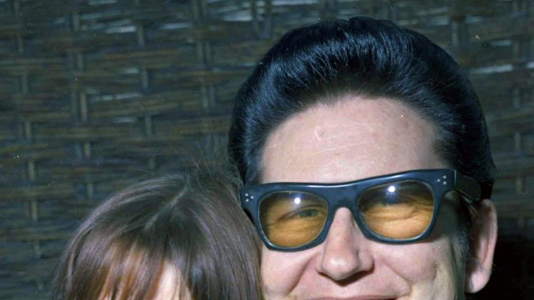 FILE - In this April 1, 1969 file photo, American pop singer Roy Orbison poses with his then 18-year-old wife Barbara to the media in London. Barbara Orbison died Tuesday, Dec. 6, 2011 in Los Angeles. She was 60. (AP Photo/Bob Dear, File)