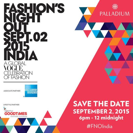 Save the date for Fashion's Night Out @ Palladium Mall, Sept.2