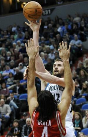 Love leads T-Wolves past Rockets 100-91