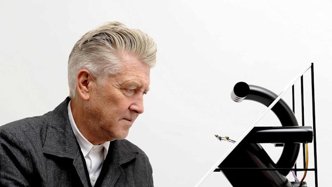 David Lynch and his artwork 'Jeweled Triangle'
