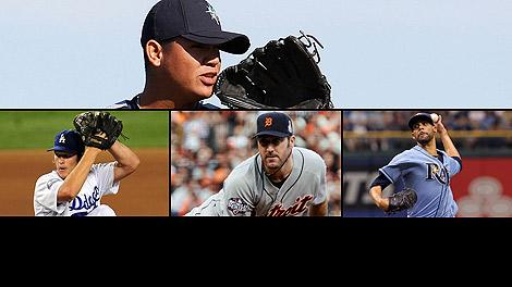 Felix Hernandez and Clayton Kershaw and Justin Verlander and David Price