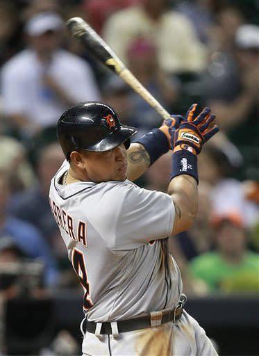 Cabrera's 6 RBIs lead Tigers' 17-2 rout of Astros