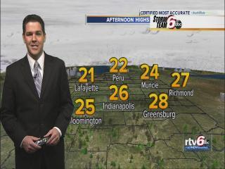 Thursday's Forecast: Temps return back to normal