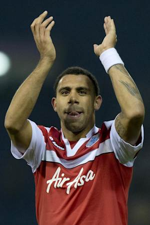Anton Ferdinand gestures to the crowd on January 15, 2012