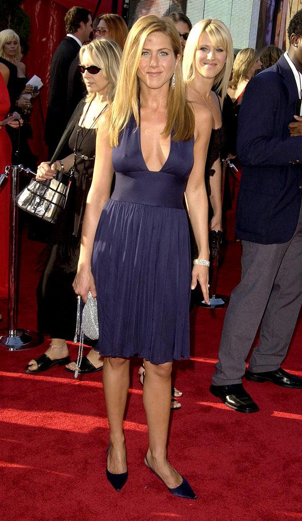 Jennifer Aniston at The 55th Annual Primetime Emmy Awards.