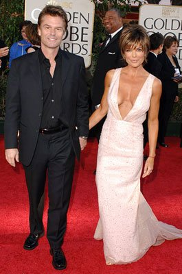 Harry Hamlin and Lisa Rinna 63rd Annual Golden Globe Awards - Arrivals Beverly Hills, CA - 1/16/05