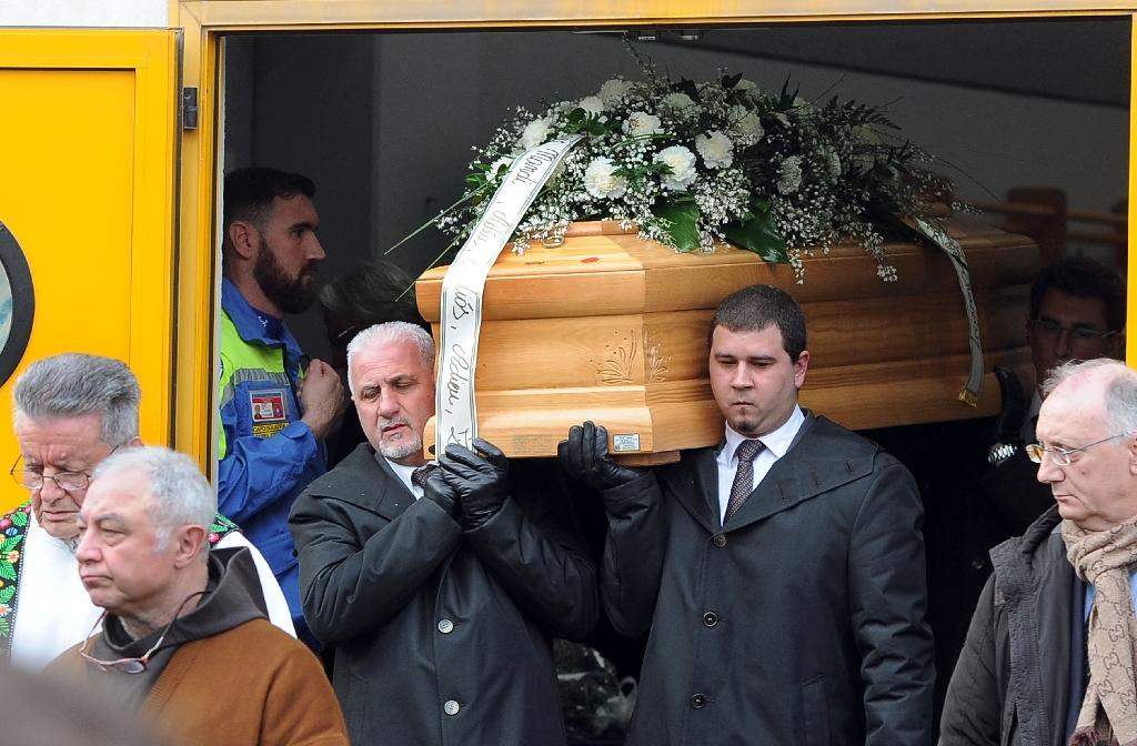 Tears and anger as Italy says farewell to slain student