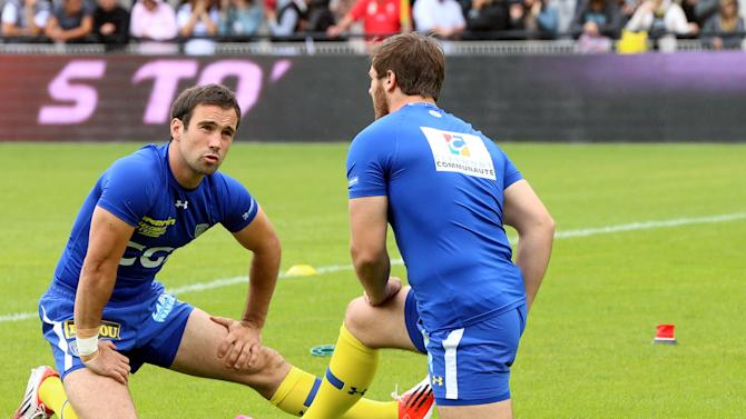 International scrum-half Morgan Parra (left) is set to play for the first time in two months after recovering from injury
