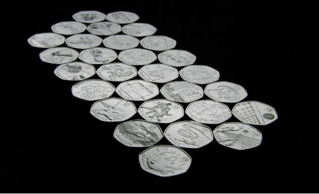 2012 Olympics commemorative 50p pieces