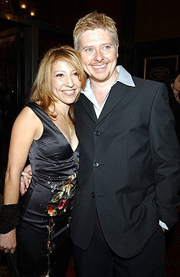 Premiere: David Foley and fiancee Chrissy at the New York premiere of On The Line - 10/9/2001