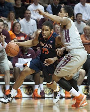 No. 14 Virginia edges Virginia Tech 57-53