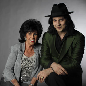 In this July 6, 2010 photo, musicians Wanda Jackson, left, and Jack White pose for a portrait in Nashville, Tenn. (AP Photo/Josh Anderson)