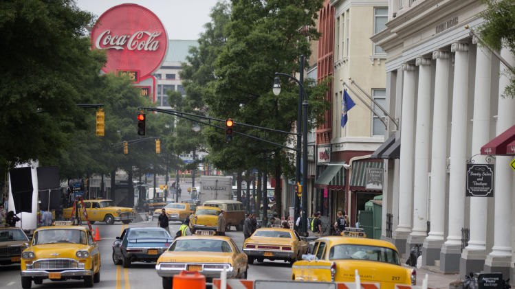 Film crews transform Atlanta into vintage New York