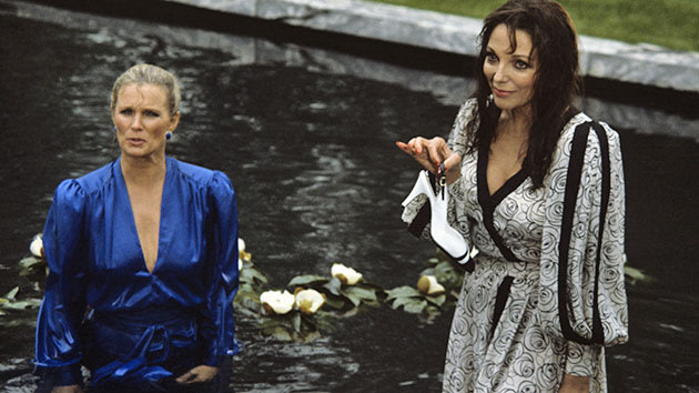 "Linda Evans and Joan Collins in ""Dynasty."""