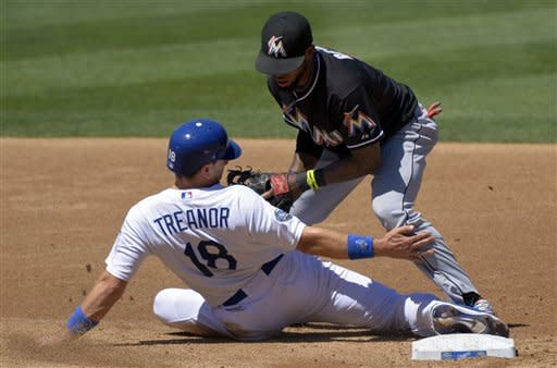 Marlins hit 4 HRs in 6-2 win over Dodgers