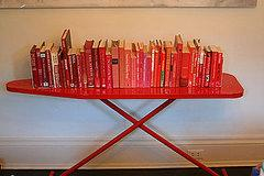 Create an eye-catching, easily movable bookshelf by using an unusual table or other furniture piece,…
