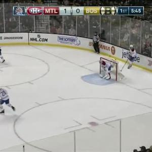 Carey Price Save on Patrice Bergeron (14:27/1st)